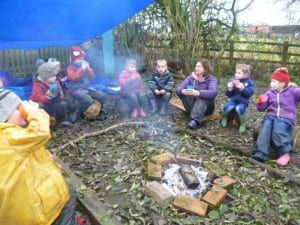 Forest Schools session in our school grounds